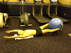 Leg Lift (w. alt. stability ball) - Position 1