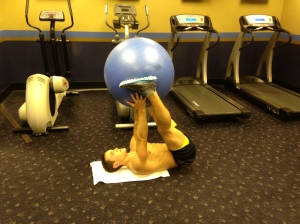 Leg Lift (w. alt. stability ball) - Position 2