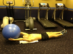 Leg Lift (w. alt. stability ball) - Position 3