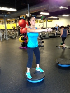 Bosu Ball Squat - Position 1
