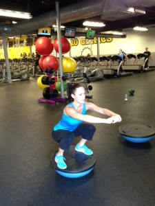 Bosu Ball Squat - Position 2