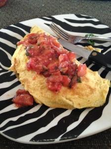 Bruchetta Spinach Omelette