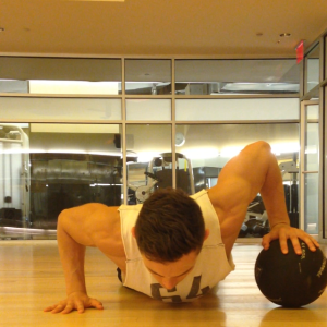 One Arm Med Ball Pushup: Step 4